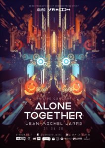Affiche SoWhen et Jean Michel Jarre virtual live concert Alone Together